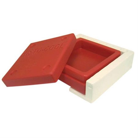 "Histo-Cool Small with Insulating Foam Base - Red - 8.625""L x 8""W x 2.5""H"