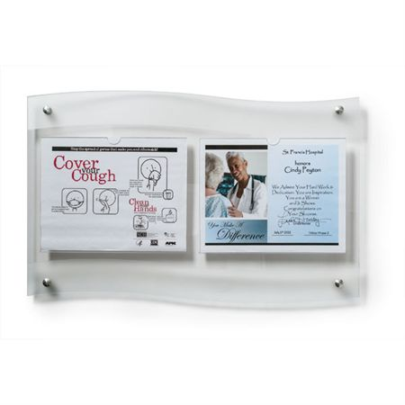 "Horizontal Document Frost Frame Double - 25""W x 1.5""D x 16""H"