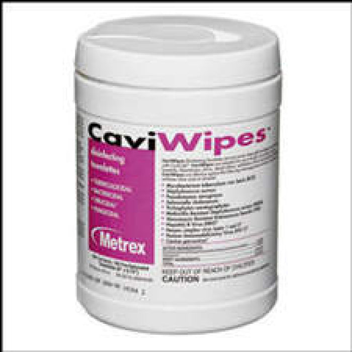 "Caviwipes - Germicidal Wipe Low-Alcohol Surface Cleaner Size: 6"" X 6-3/4"""" 160 / Tub"