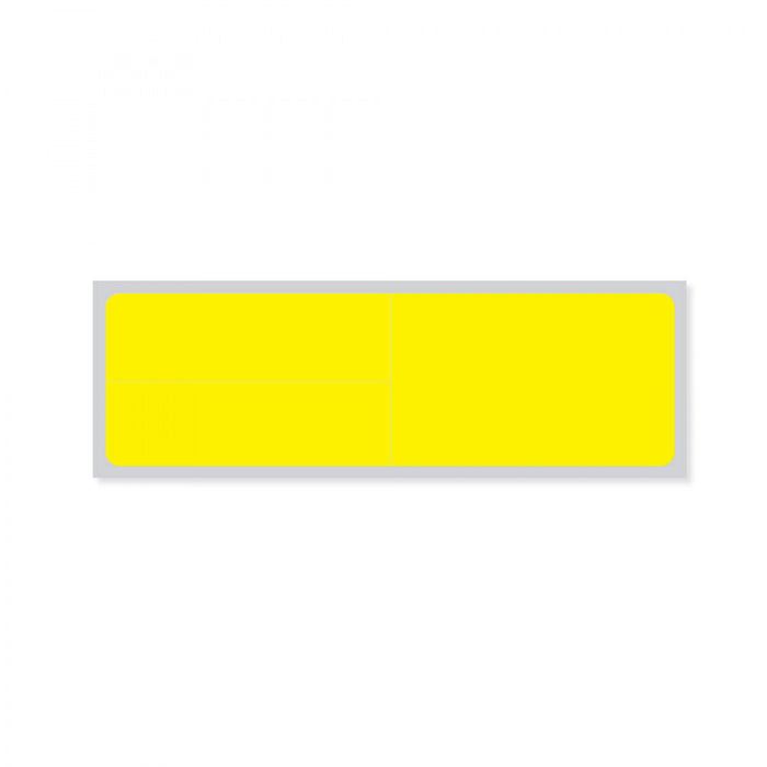 "Label Meditech Direct Thermal Paper Permanent 3"" Core 4"" X 1 1/4"" Yellow 3600 Per Roll"