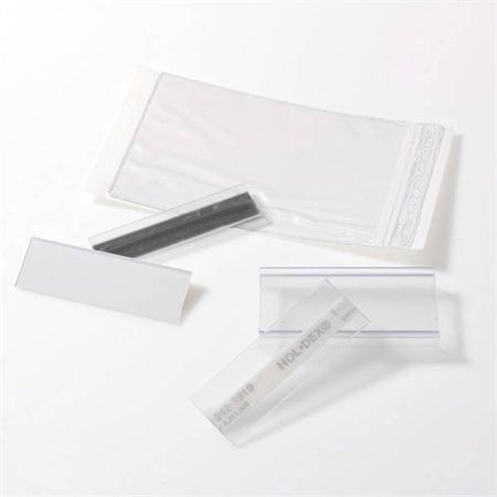"Label Holders Self-Adhesive Hol-Dex - 6""W x 2""H"