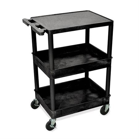 Utility Cart 1 Shelf, 2 Tubs - 24″W x 18″D x 36.5″H (including casters)
