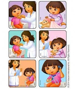 Medibadge Dora the Explorer Sticker Rolls - Dora the Explorer Sticker, Dora Visits the Doctor, 75/Pack - M2207P