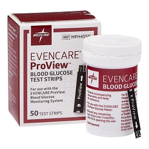 Medline EVENCARE ProView Blood Glucose Monitoring System - EvenCare ProView Glucose Strip - MPH4550