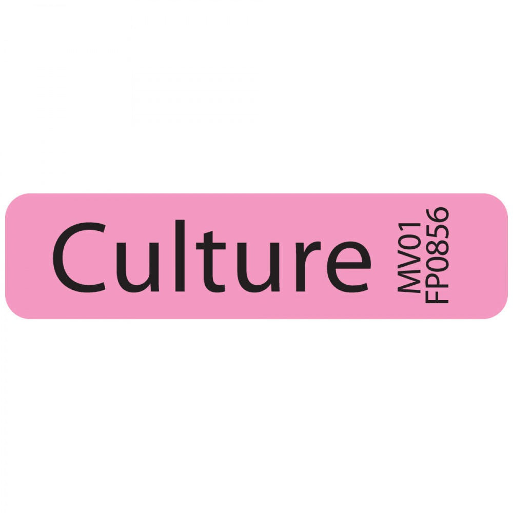 "Label Paper Removable Culture 1"" Core 1 1/4"" X 5/16"" Fl. Pink 760 Per Roll"