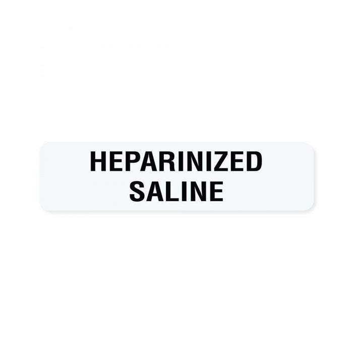 "Label Paper Removable Heparinized Saline 1"" Core 1 1/4"" X 5/16"" White 760 Per Roll"