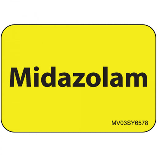 "Label Paper Permanent Midazolam 1"" Core 1 7/16"" X 1 Yellow 666 Per Roll"