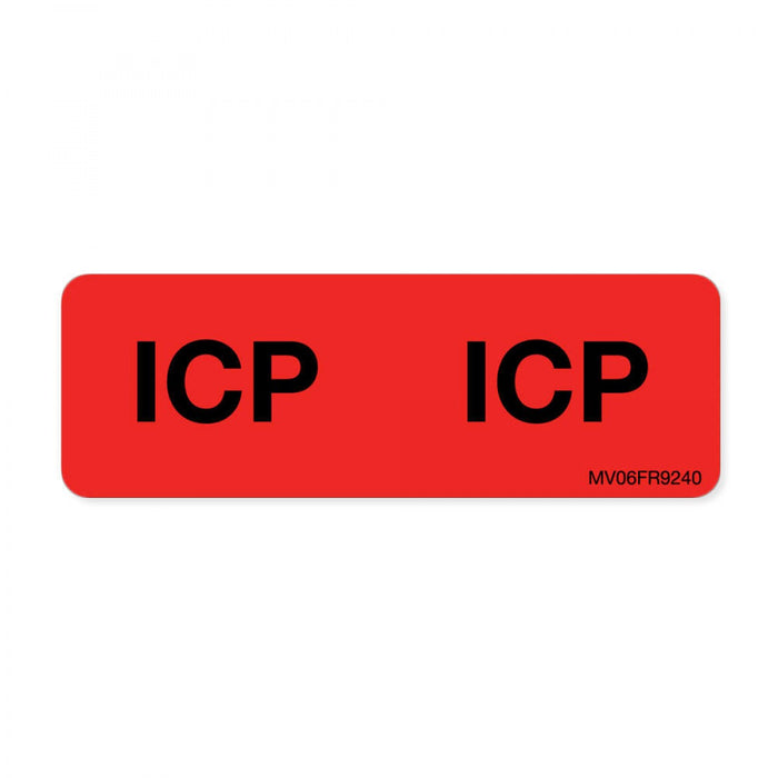 "Label Paper Permanent Icp : Icp 1"" Core 2 15/16"" X 1 Fl. Red 333 Per Roll"