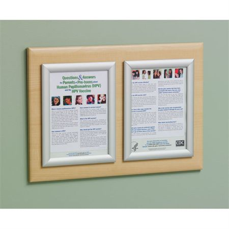 "Silver Frame Double Frame Messaging Board - 23.625""W x 16""H"