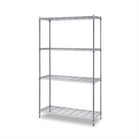 "One Box Wire Shelving 4-Shelf Unit 24""D x 72""H 42""W"