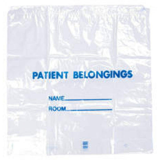"Patient Belongings Bag Drawstring Clear Plastic 20""X20""X4"" 250 Per Case"