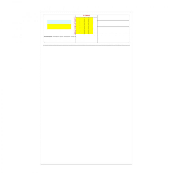 "Pharmexcript Paper/Label Form With Patented Flickaway Technology Laser Permanent 8 1/2 "" X 14"" White 1000 Per Box"