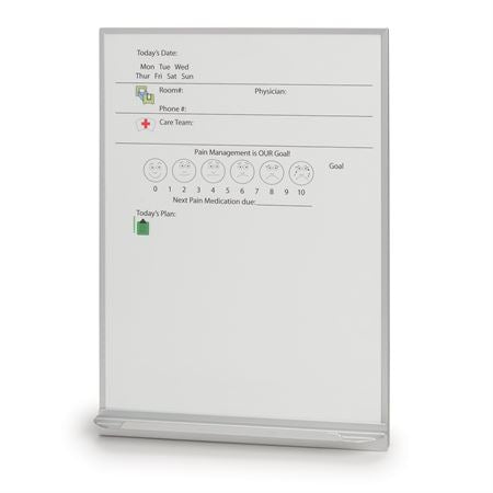 "Patient Room Communication Boards Patient Room Dry-Erase Board - 18""W x 24""H"