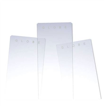 Plain White Glass Slides Clipped Corners and Beveled Edges
