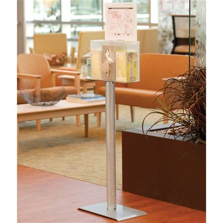 "Premium Health & Hygiene Center With Landscape Sign Holder - 20.25""W x 4.8125""D x 18.938""H"
