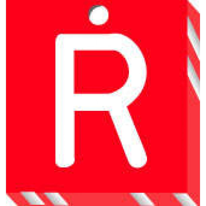 "X-Ray Marker - Abbreviated Side: Right Color: Red Material: Acrylic Dimensions: 1-3/32"" X 1-3/16"" X 1/8"" 1 / Each"