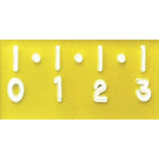 "X-Ray Marker - Accessory Ruler Digital 1 Cm Increments Color: Yellow Dimensions: 3/4"" X 1-12"" 1 / Each"