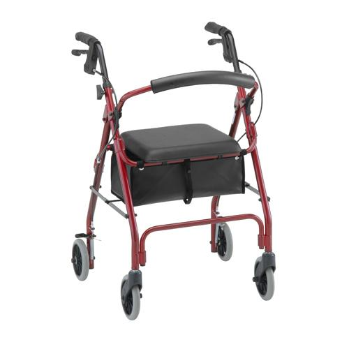 Classic Rolling Walker Red