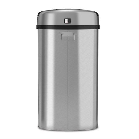 "13gal Stainless Steel Waste Can Semi Round - 14.13""W x 12.63""D x 26.75""H"