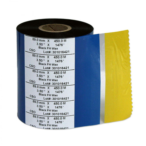 "Ribbon For Zebra Xi And Z Printers Wax X 3.15"" X 984' Black 6 Per Box"