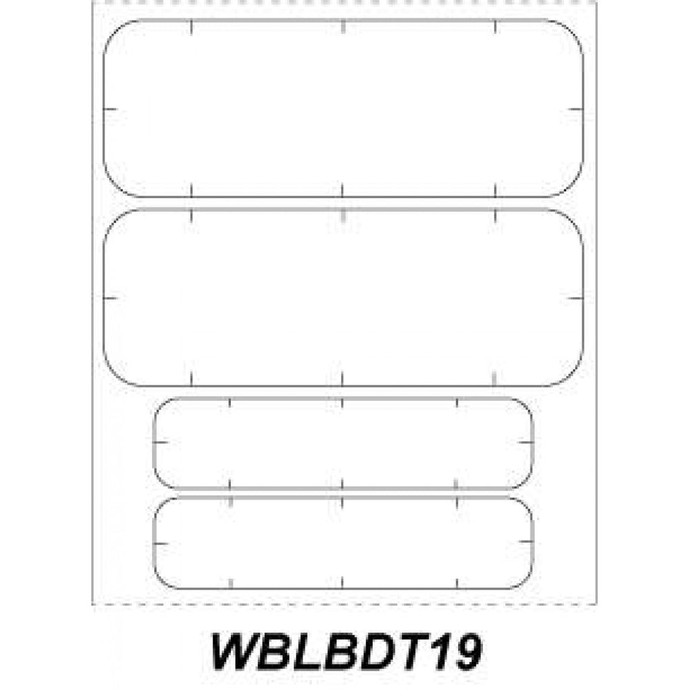 "Chart Labels Wristband Thermal X 1"" White - 100 Per Qty Based Roll"