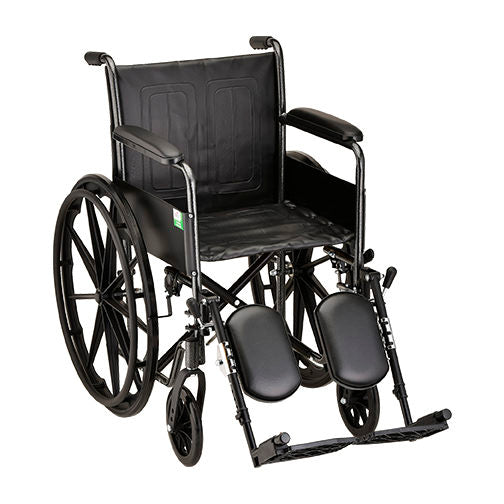 Steel Wheelchair Fixed Arms