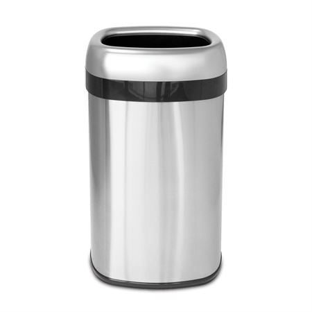 "Open-Top Waste Can with Dual-Deodorizer Filter 16gal - Round - 14.25""W x 14.25""D x 30""H"