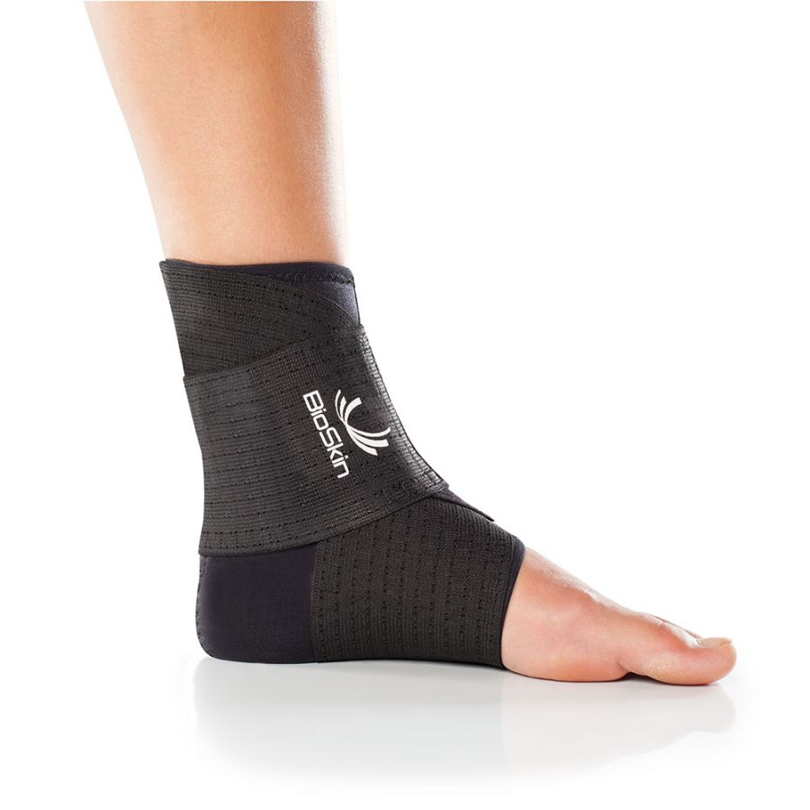 Ankle Compression Sleeve with Compression Wrap