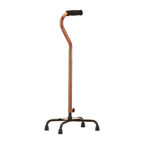 Large Base Quad Cane - Bronze