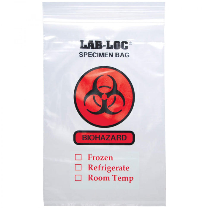"Biohazard Bag 2 Mil Thick Dimensions: 8"" X 8"" 1000/Case"
