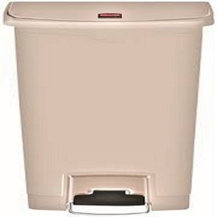 Saalfeld Redistribution 1008661 Trash Can 13 gal Plastic Step On, Beige