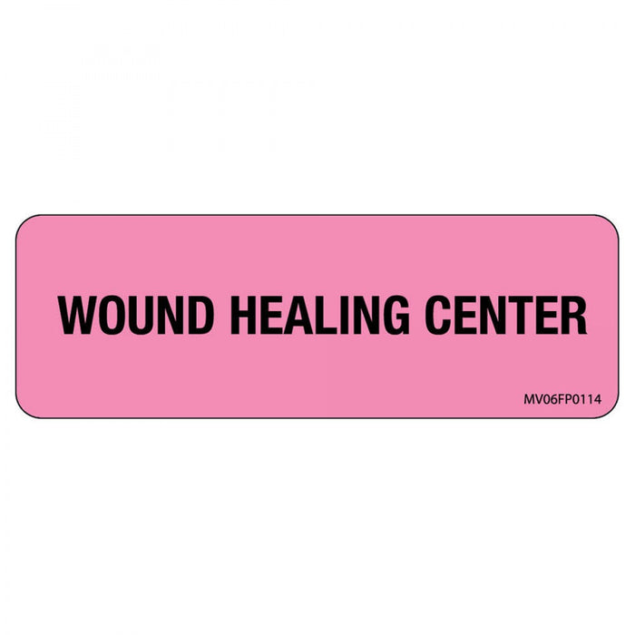 "Label Paper Removable Wound Healing Center 1"" Core 2 15/16"" X 1 Fl. Pink 333 Per Roll"