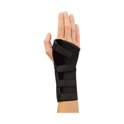 "Wrist Brace - Economy Material: Elastic Length: 7"" Side: Right Color: Black Size: Medium 1 / Each"
