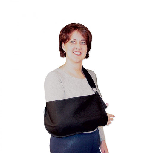 Arm Sling With Padded Strap Lightweight Stain-Resistant Fabric Anatomical Cut S–Xl Sizing