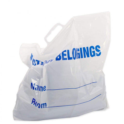 Patient Belongings Bag Various Handle Styles Recyclable 250/Case