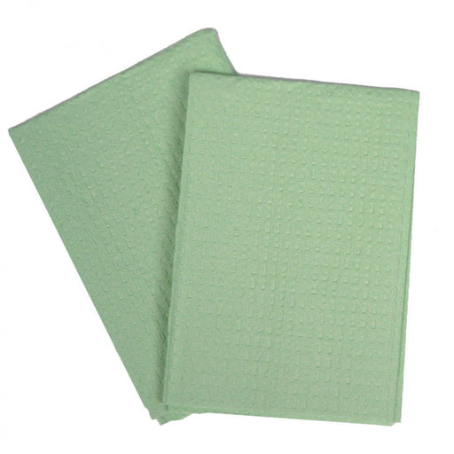 "Disposable Towel Color: Green Material: 2 Ply Tissue Dimensions: 13"" X 18"" 500 / Case"