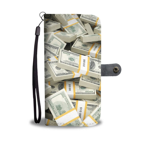 Awesome Artistic Wallet Case #2 - Pile Of Money - Wallet Case
