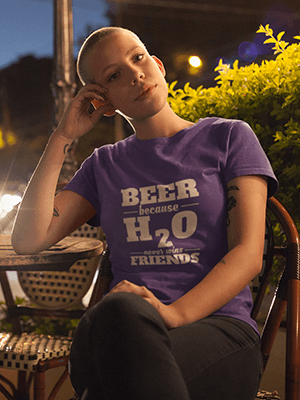 Beer Vs H2O Premium Unisex T-Shirt