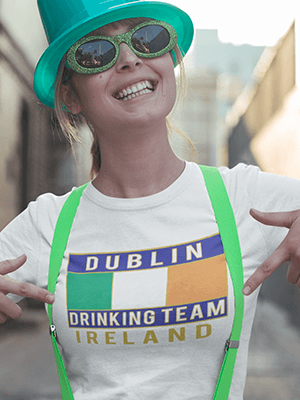 Dublin Drinking Team Flag Classic Unisex T-Shirt