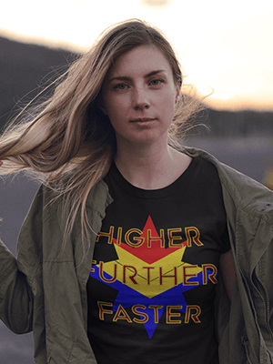 Higher Further Faster Premium Unisex T-Shirt