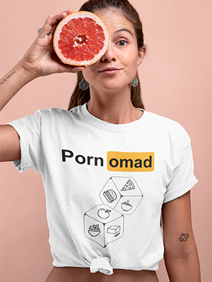 PornOmad Food Dices Premium Unisex T-Shirt