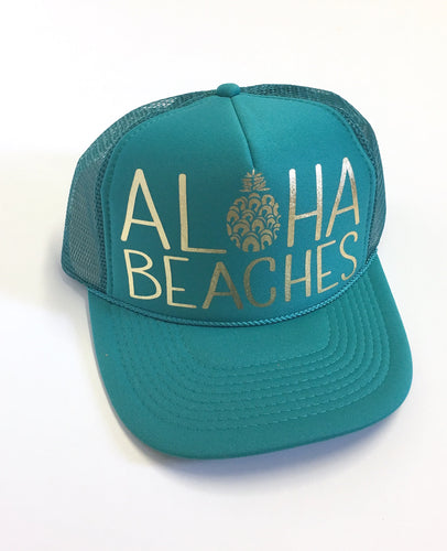Aloha Beaches Jade and Gold