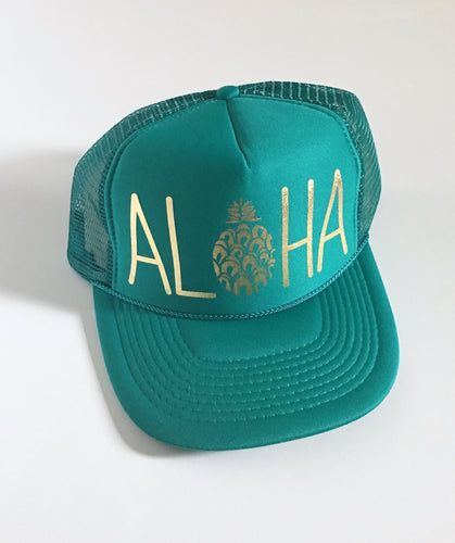 Aloha Pineapple Jade and Gold
