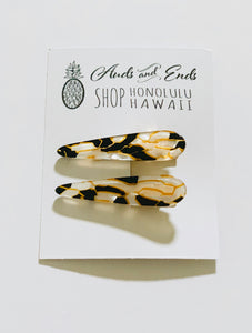 Tear drop blk/ gold Clips