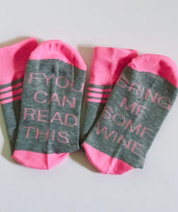 Wine Socks in Pink