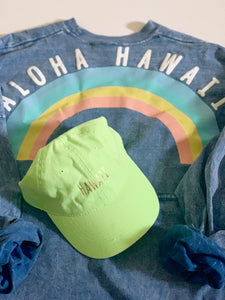 Hawaii Dad hat Green/Gold