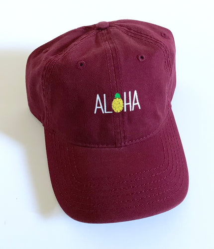 Aloha Dad Hat Burgundy