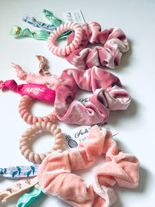 Scrunchie Set Assorted Pink