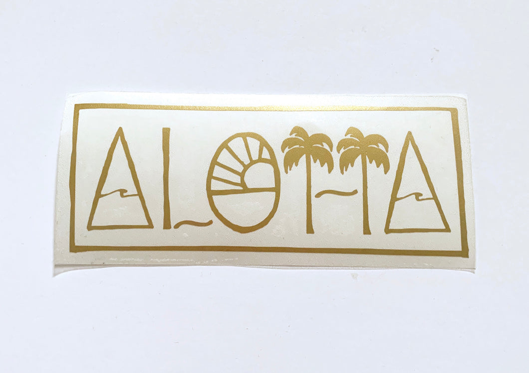 Geo Aloha Sticker Gold