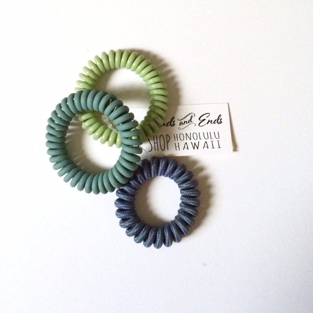 Tele Tie Set Assorted Green